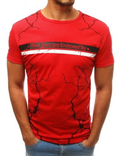 Červené pánské tričko RX3826 s potiskem