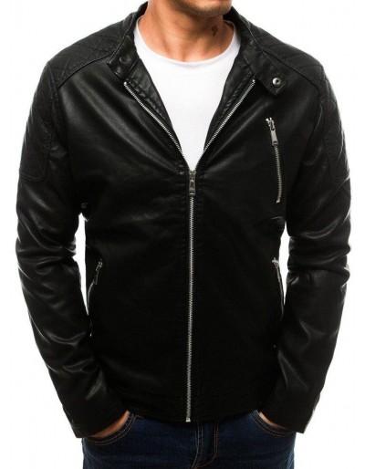 Černá pánská kožená bunda TX2710