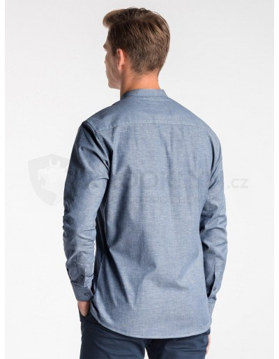 Men's shirt with long sleeves K488 - navy