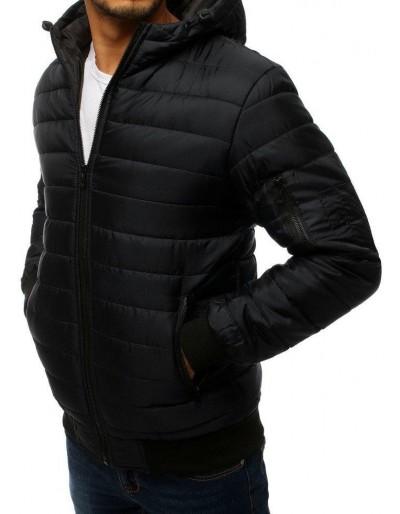 Kurtka męska pikowana bomber jacket czarna TX2728
