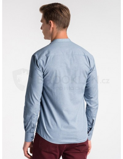 Men's shirt with long sleeves K488 - blue