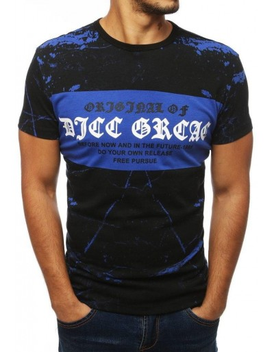 Modré pánské tričko s potiskem RX3831