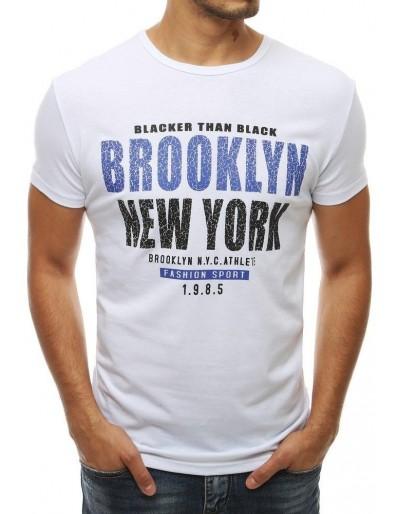 Bílé pánské tričko RX3837 s potiskem