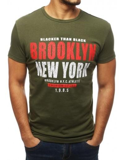 Zelené pánské tričko s potiskem RX3838