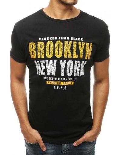 Černé pánské tričko RX3839 s potiskem