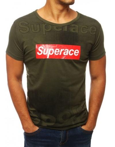 Zelené pánské tričko s potiskem RX3842