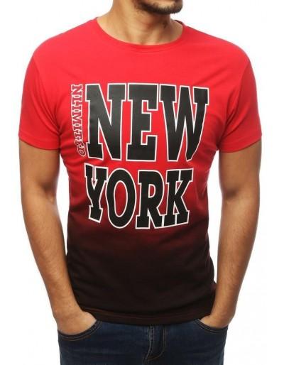 Červené pánské tričko RX3843 s potiskem