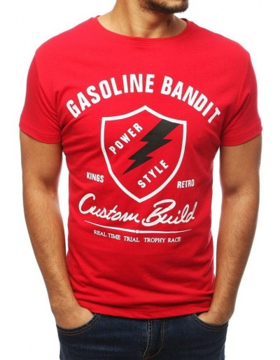 Červené pánské tričko RX3849 s potiskem