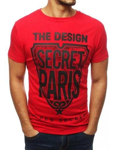Červené pánské tričko RX3860 s potiskem