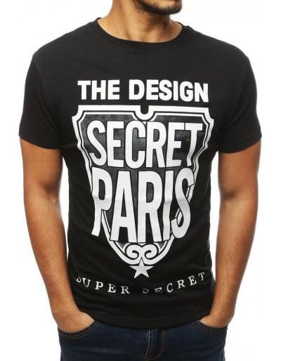Černé pánské tričko RX3862 s potiskem