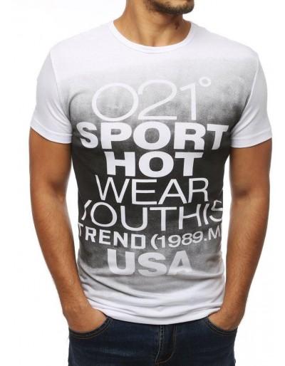 Bílé pánské tričko RX3864 s potiskem