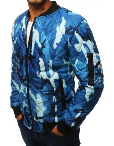 Kurtka męska pikowana bomber jacket moro-niebieska TX2825