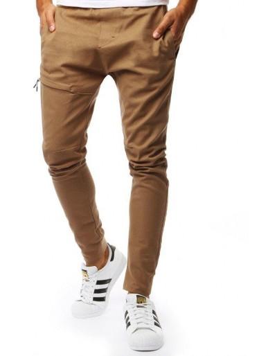 Kamelové pánské jogger kalhoty UX2005