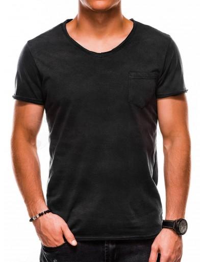 Pánské tričko s potiskem S1049 - černé