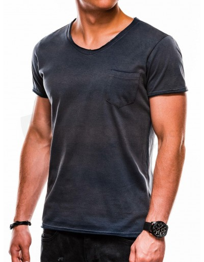 Men's printed t-shirt S1049 - navy