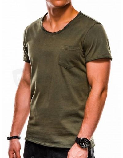 Pánské obyčejné tričko S1049 - zelené