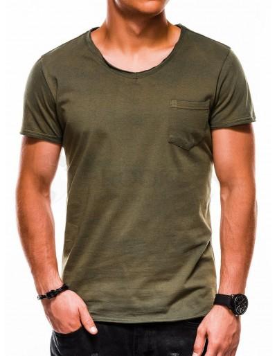 Men's plain tshirt S1049 - green