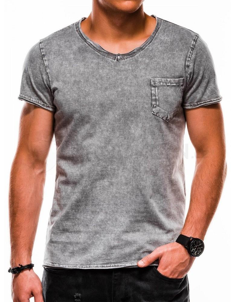 Pánské obyčejné tričko S1050 - šedé