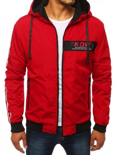 Červená pánská bunda s kapucí TX2885