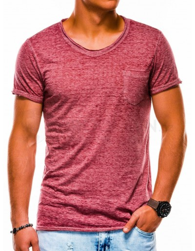 Men's plain t-shirt S1051 - dark red