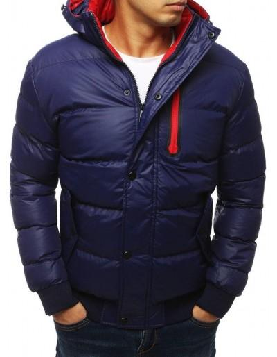 Námořnická modrá pánská prošívaná bunda s kapucí TX2930