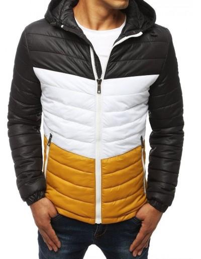 Černá pánská prošívaná bunda s kapucí TX2939