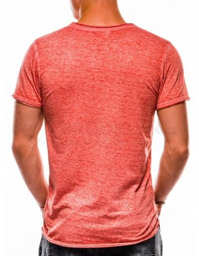 Men's plain t-shirt S1051 - coral