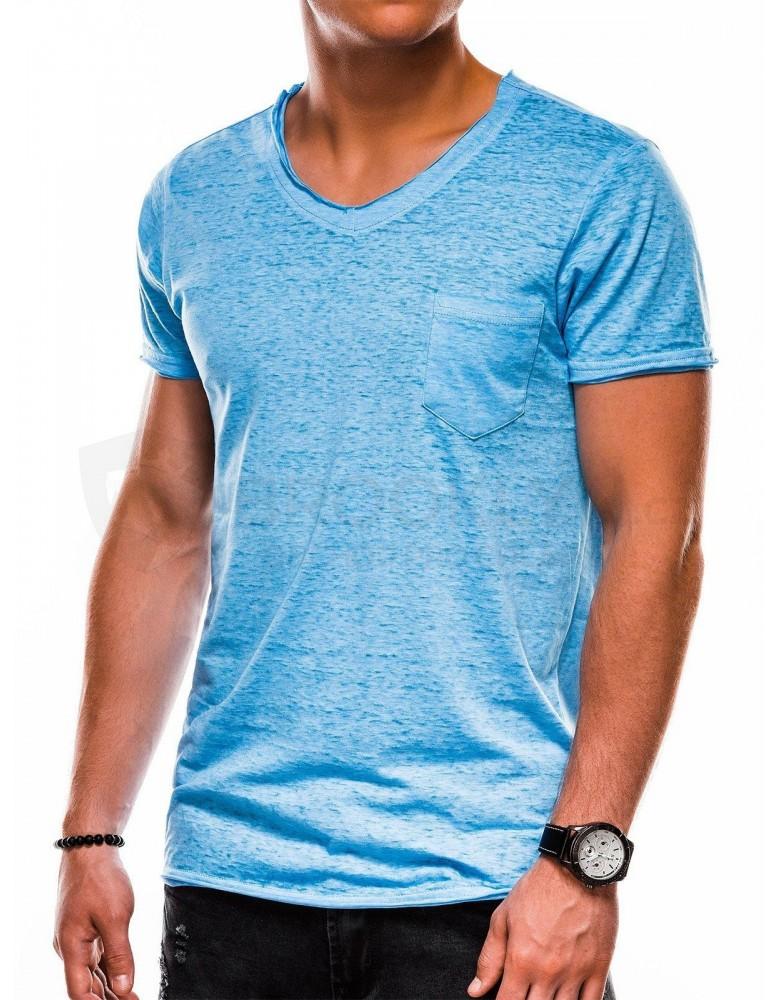 Pánské obyčejné tričko S1051 - modré