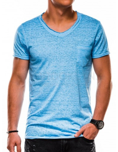 Men's plain t-shirt S1051 - blue