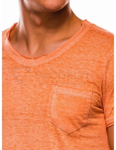 Pánské obyčejné tričko S1051 - oranžové
