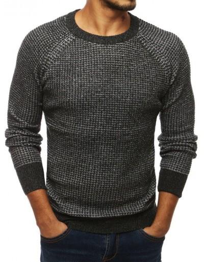 Tmavě šedý pánský svetr WX1320