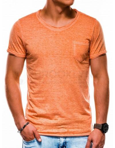 Men's plain t-shirt S1051 - orange