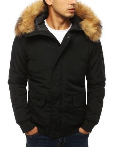 Pánská zimní černá bunda TX2967