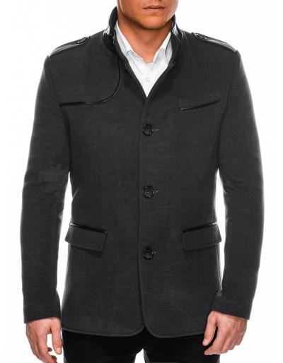 Pánský kabát C92 Augustin - tmavě šedý