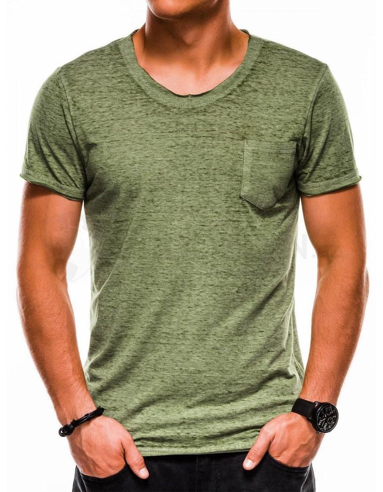 Pánské obyčejné tričko S1051 - zelené