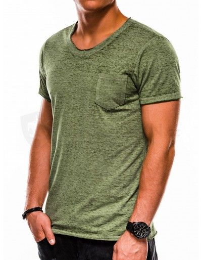 Men's plain t-shirt S1051 - green