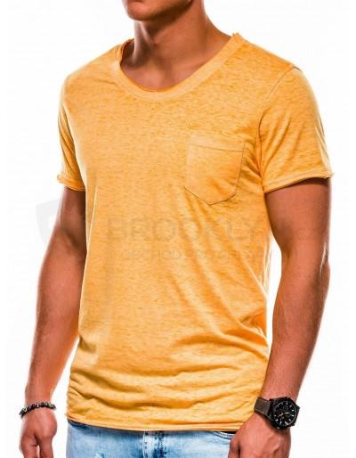 Pánské obyčejné tričko S1051 - žluté