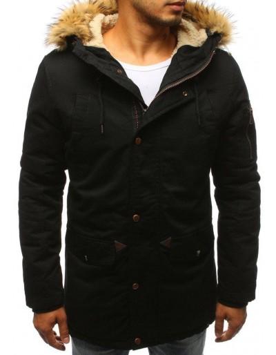 Černá pánská zimní parka bunda TX2979
