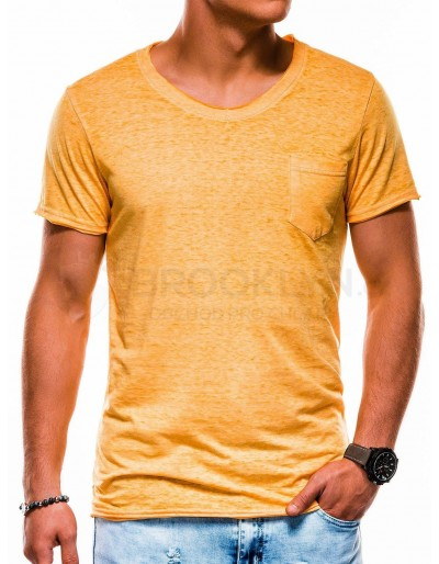 Men's plain t-shirt S1051 - yellow