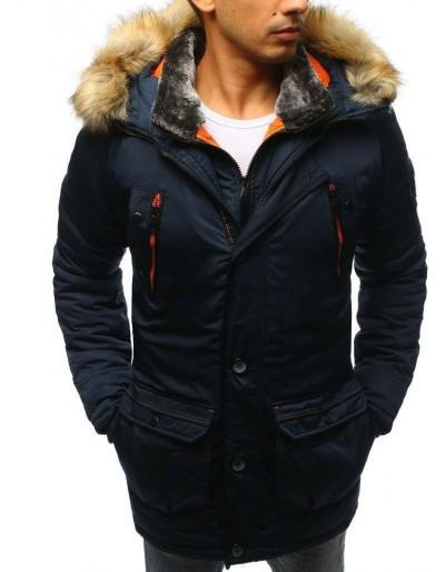 Námořnická modrá pánská zimní bunda TX2983