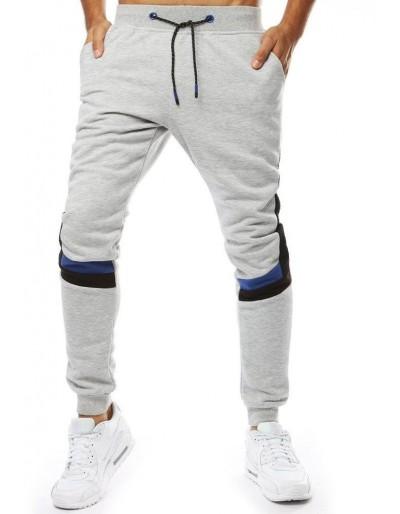 Světle šedé pánské běžecké kalhoty UX2094