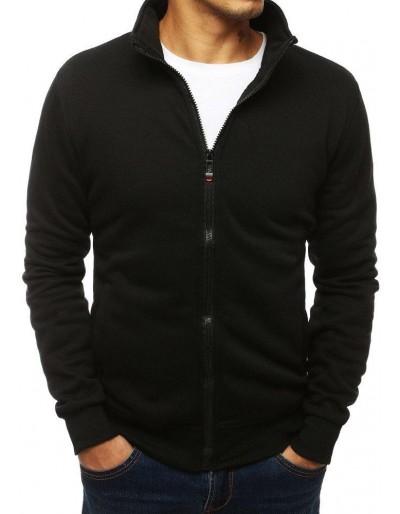 Černá pánská mikina na zip bez kapuce BX4110