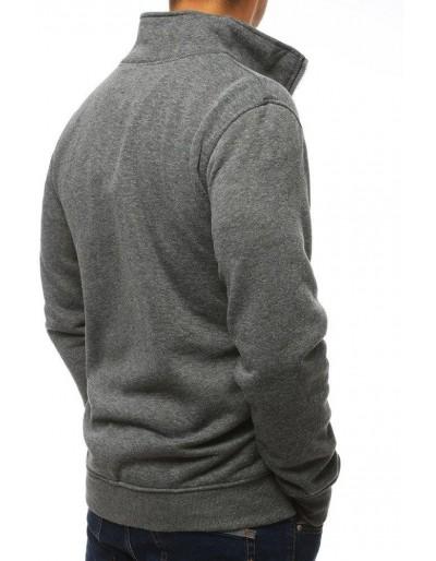 Bluza męska rozpinana bez kaptura antracytowa BX4111
