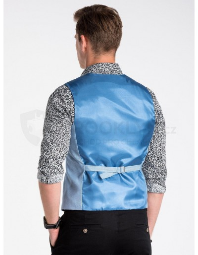 Men's vest V45 - light blue