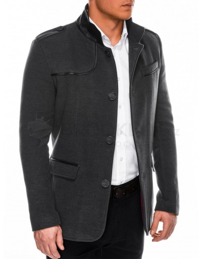 Men's coat C92 Augustin - dark grey