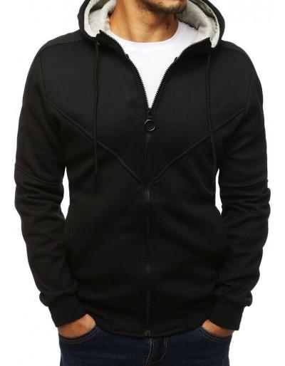 Černá pánská mikina na zip BX4141