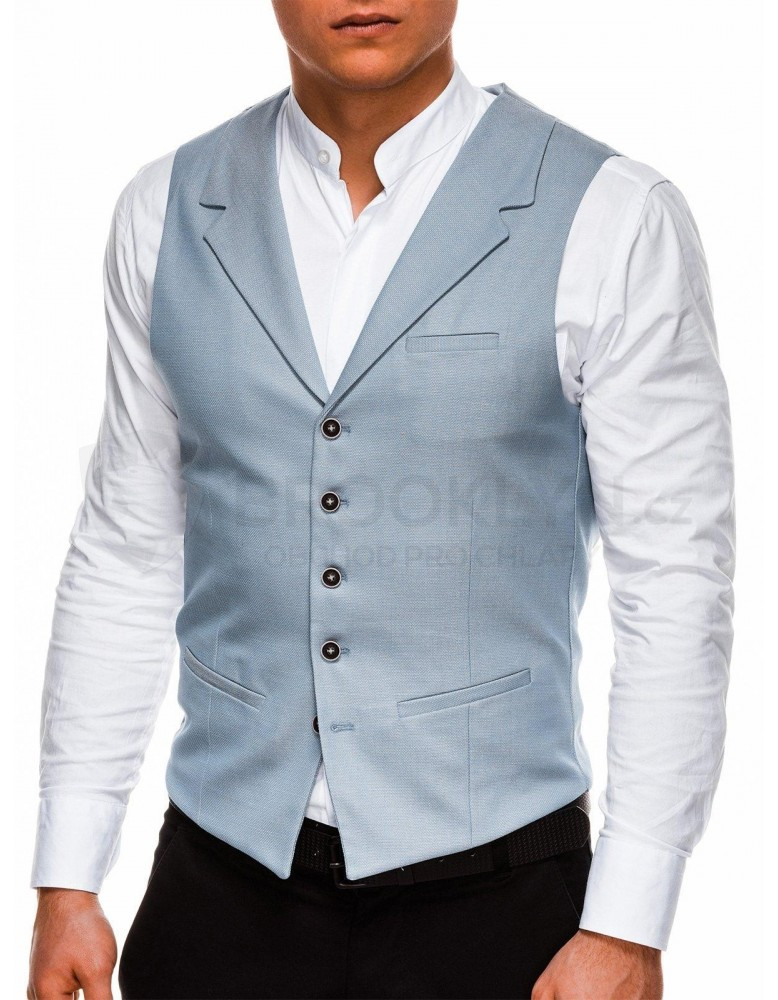 Pánská vesta V46 - světle modrá