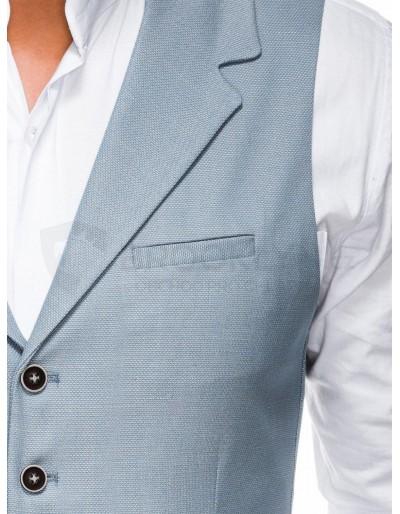 Men's vest V46 - light blue