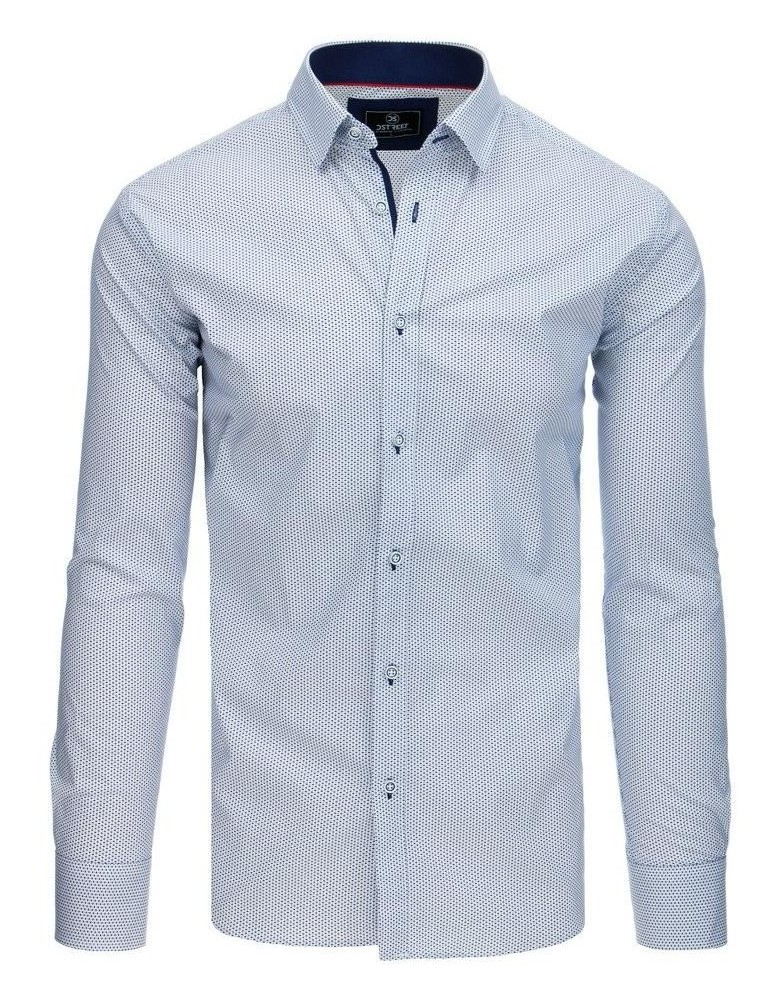 Pánská košile PREMIUM s dlouhým rukávem, bílá DX1766
