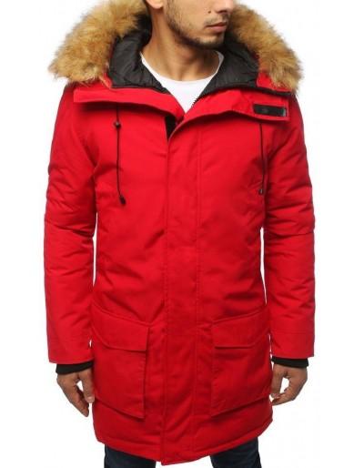 Červená pánská zimní parka bunda TX2995